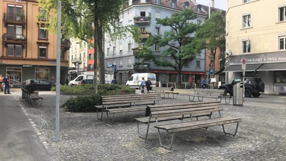 Der Emilie-Lieberherr-Platz befindet sich in der Langstrasse.