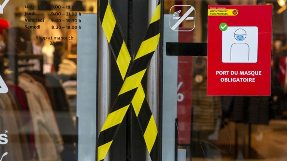 Nicht nur in der Westschweiz, ab Montag sind auch in Zürich und Schaffhausen wieder die meisten Läden geschlossen.