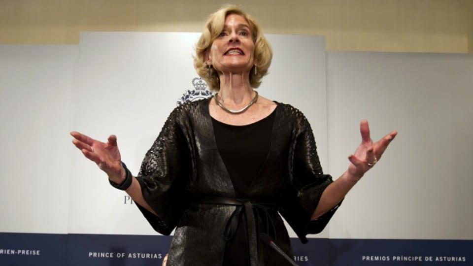 Filosofa Martha Nussbaum ad ina conferenza.