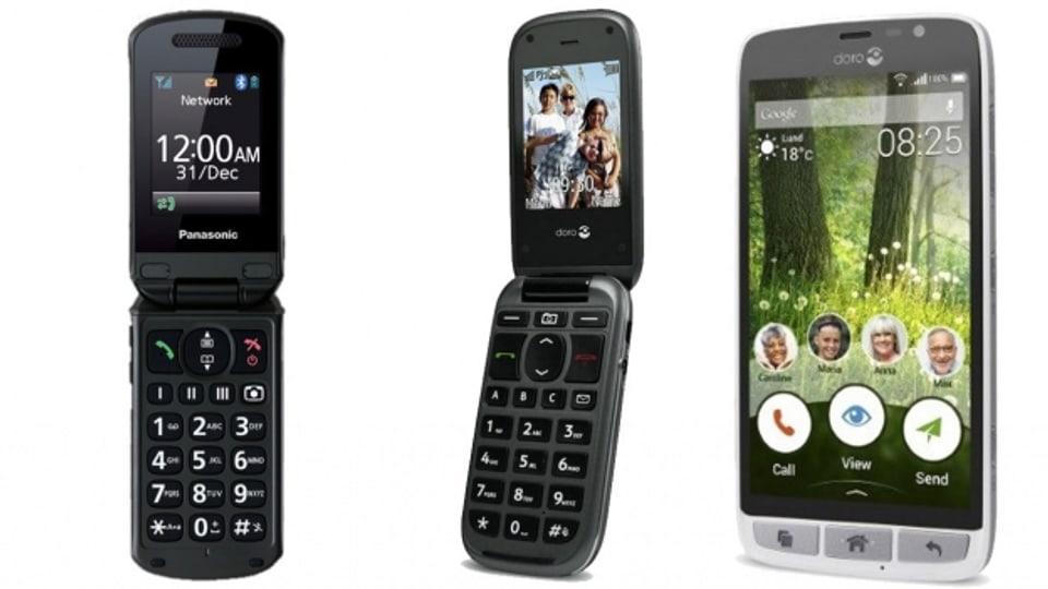 Panasonic KX-TU329, Doro PhoneEasy 613, DORO Liberto 825.