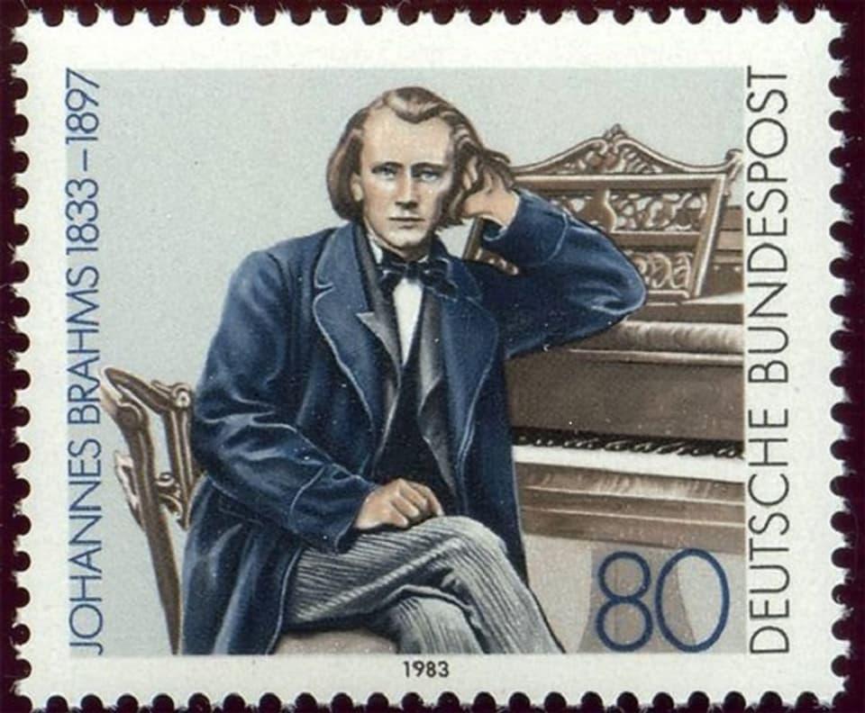 Johannes Brahms - marca postala dals 1983