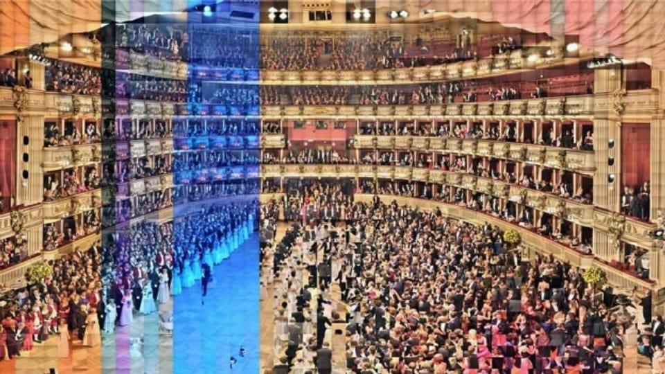 Panorama da la sala da l'opera da Vienna