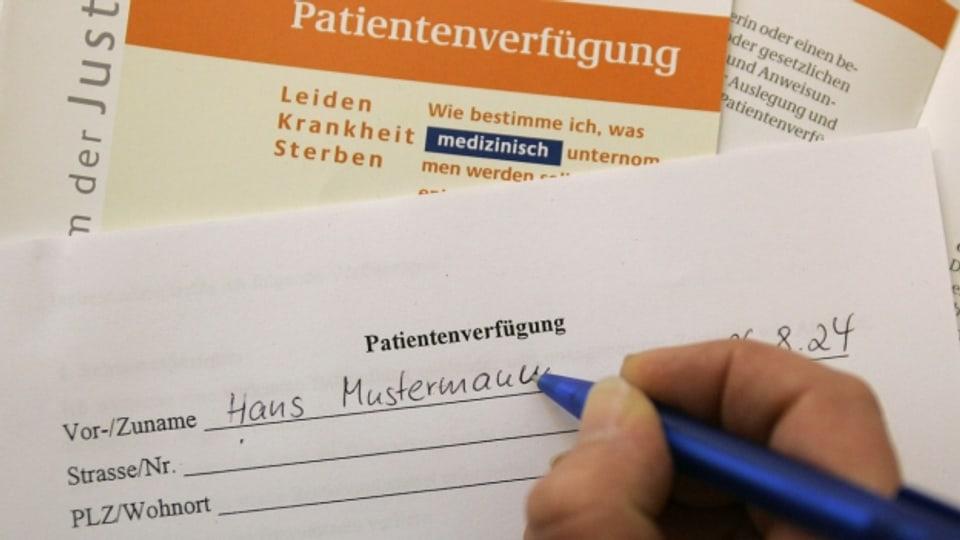 Co emplenir ora la disposiziun da pazients?
