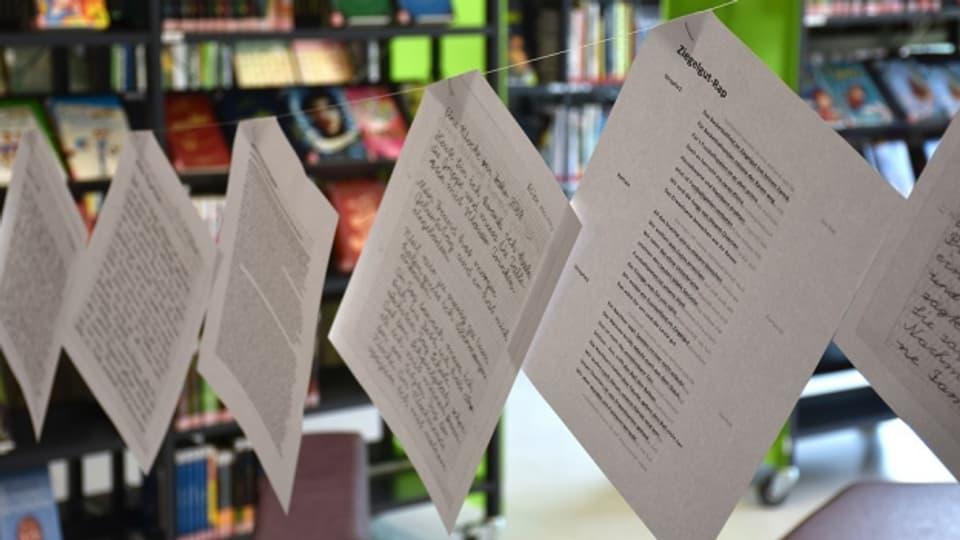 Las istorgias en la biblioteca da Landquart.