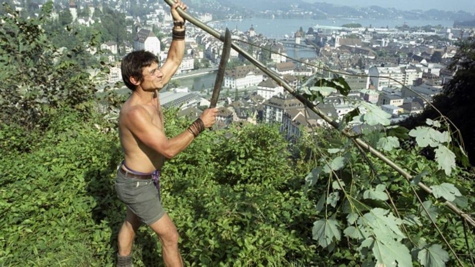 Bruno Manser a Lucerna l'onn 1999.