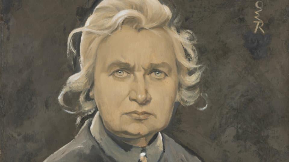 L'artista Ottilie Röderstein