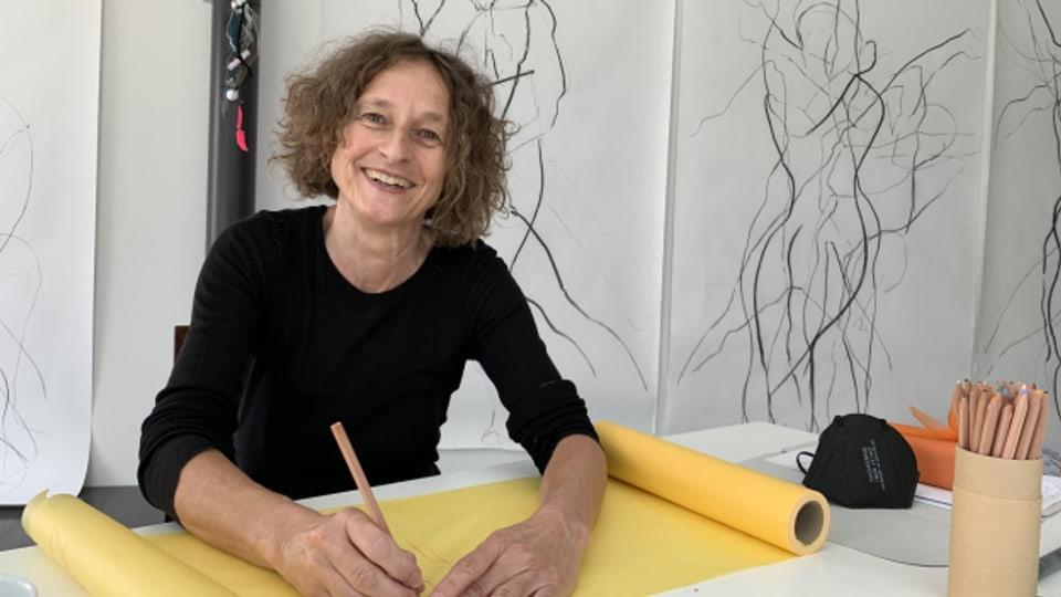 Anna R.Stoffel en ses atelier a Turitg
