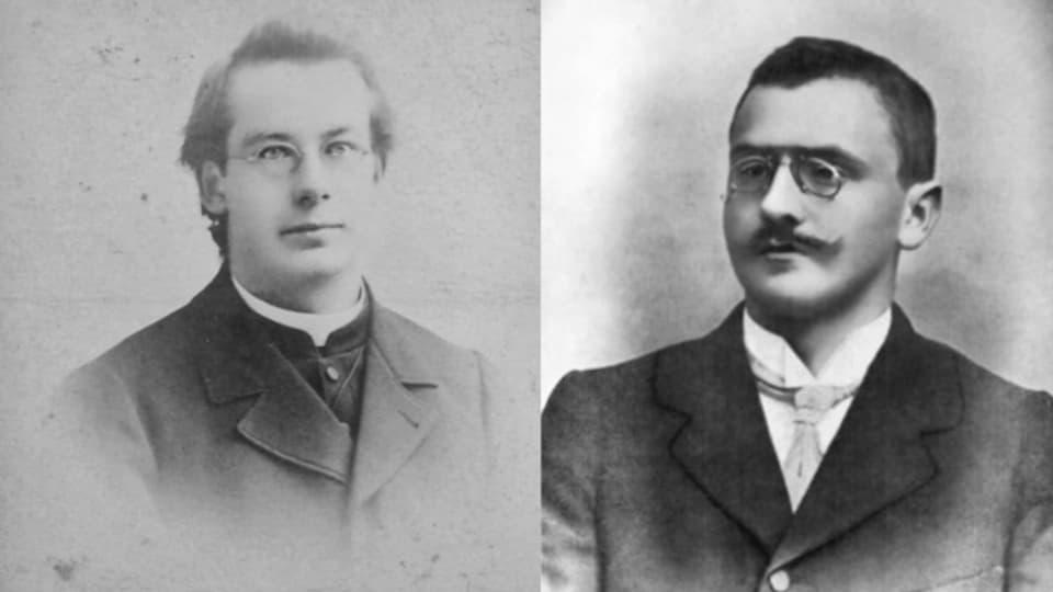 Flurin Camathias ed Alfons Tuor, omadus naschids en Surselva il 1871.