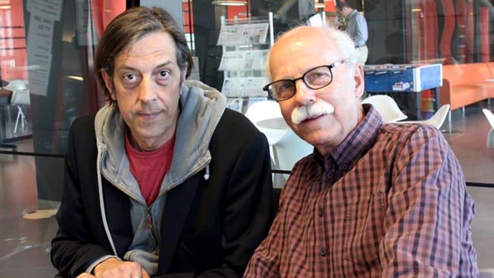 Autoren-Geschichten im «Treffpunkt»: Pedro Lenz (links) und Walter Däpp.