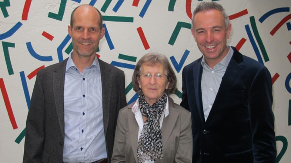 Andreas Treier, Lotti Stöckli mit Gastgeber Dani Fohrler.