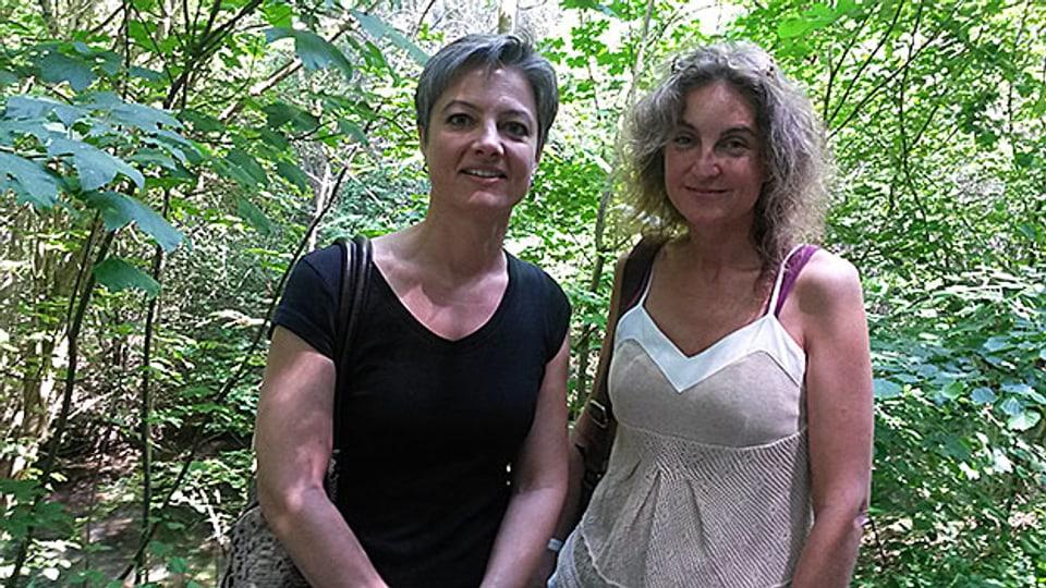 Begaben sich auf Spurensuche: Sandra Gatti-Müller und Michèle Minelli (v.l.n.r.)