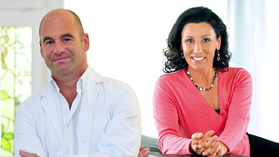 Die «Persönlich»-Gäste in St.Gallen: Ex-Skirennfahrerin Maria Walliser und Schönheitschirurg Volker Wedler.