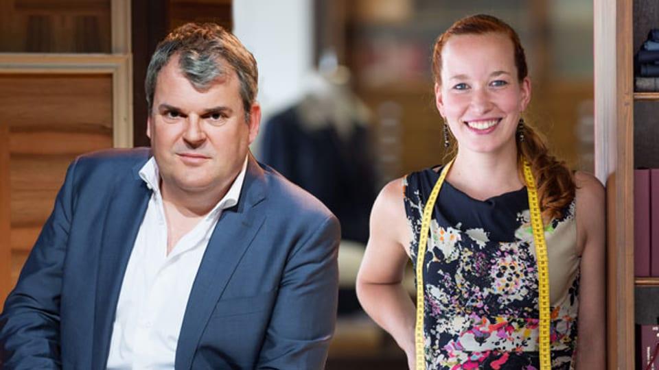 Geniessen erlaubt: die «Persönlich»-Gäste Eva Bräutigam und Mike Müller.
