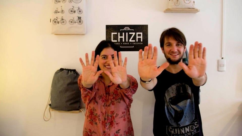 Kreative Köpfe in Chile: Lukas Steiner und seine Freundin Camila.