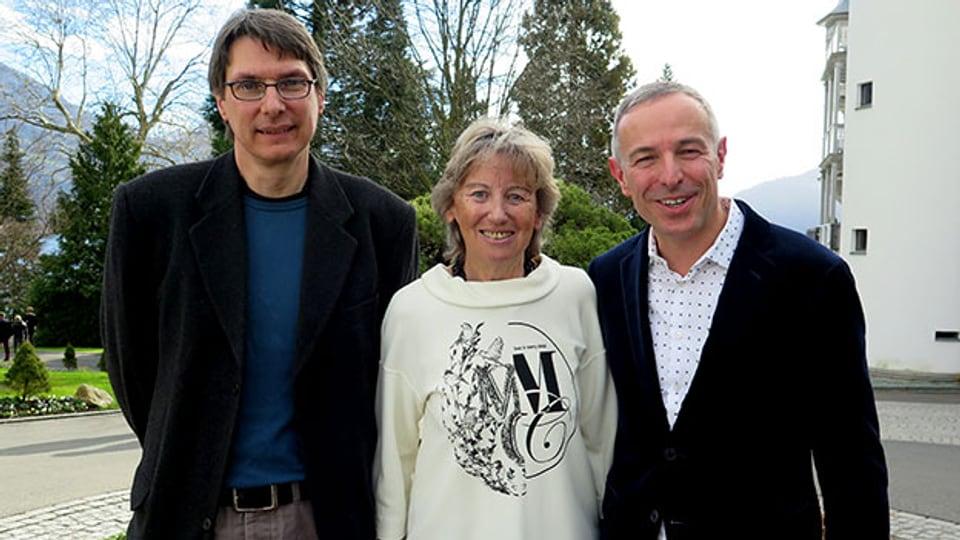 V.l.n.r. Bruno Muff, Irene Keller und Dani Fohrler.