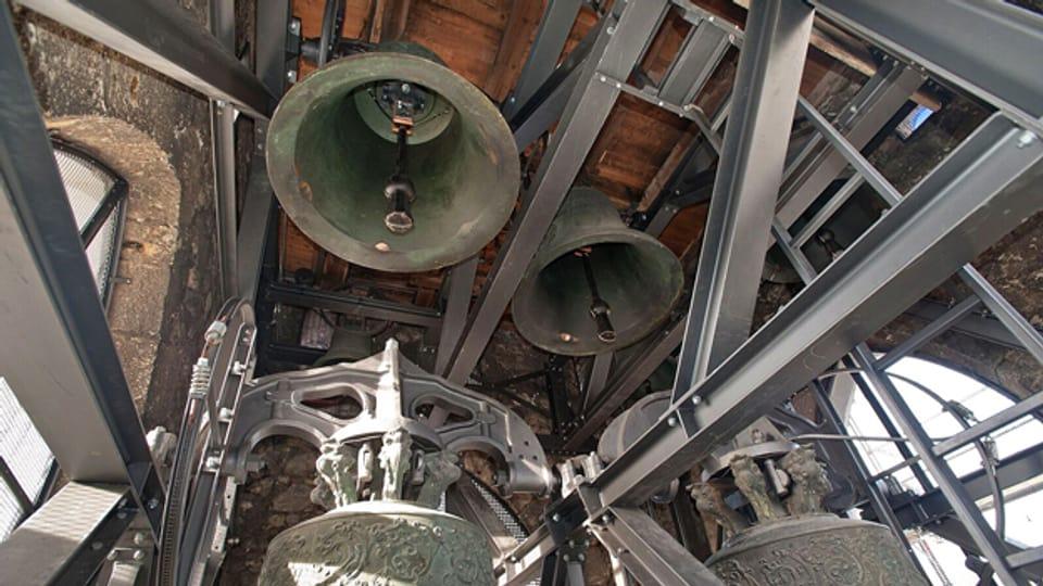 Glocken in der Stadtkirche Aarau.
