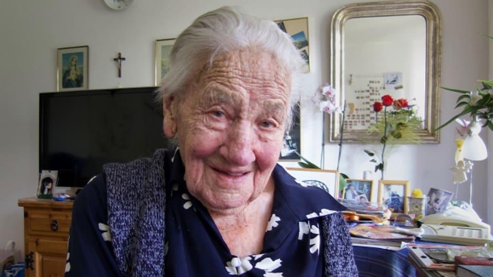 Margrit Julier, die am 12. Oktober ihren 103. Geburtstag feiert, lebt seit vielen Jahren im Altersheim St. Theodul in Fiesch (VS).