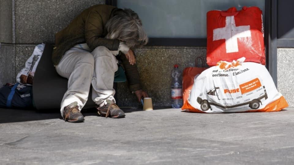 Obdachlose leben auch in der reichen Schweiz.