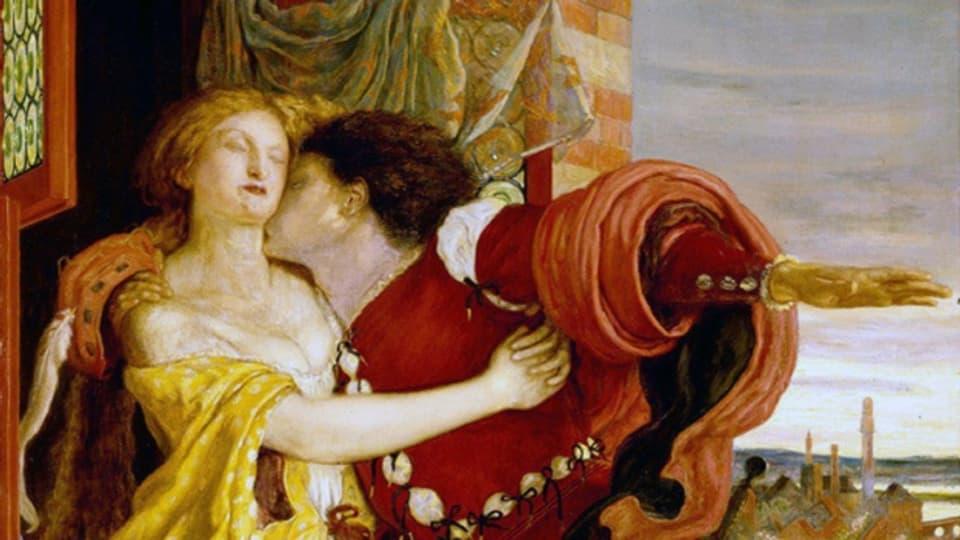 Romeo und Julia auf einem Gemälde von Ford Madox Brown (1870).