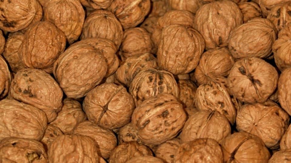 Baumnüsse bleiben oft vom Klaussäckli übrig, da man sie ohne Nussknacker nicht gut öffnen kann.