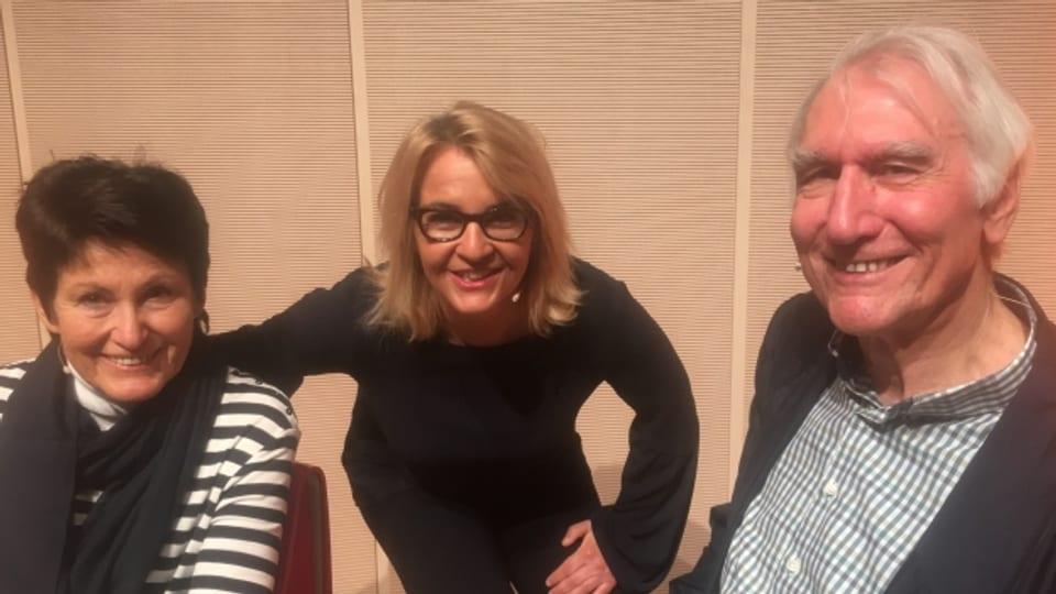 Die Persönlich Gäste von Sonja Hasler (m): Edy Hubacher und Katharina Heyer