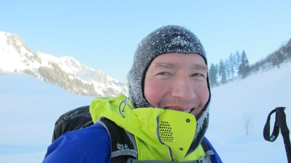 Lacht bei - 25,5 °C, Kaltluftsee-Forscher Stephan Vogt.
