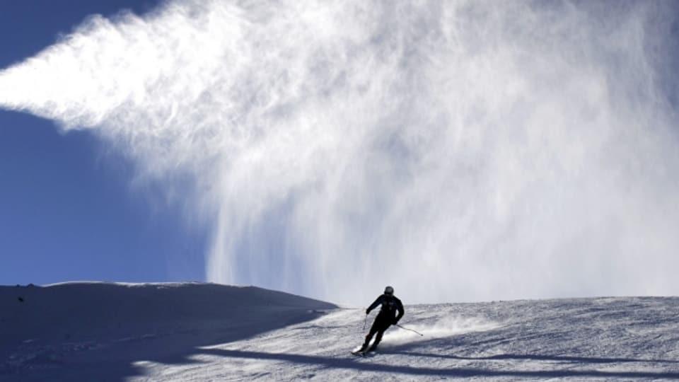 Der Traum eines jeden Skifahrers: Alleine auf der Piste unterwegs.