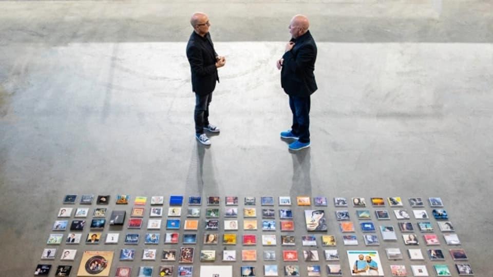 Peter Keiser (links) und sein Zwillingsbruder Walter spielten auf über 200 Produktionen mit