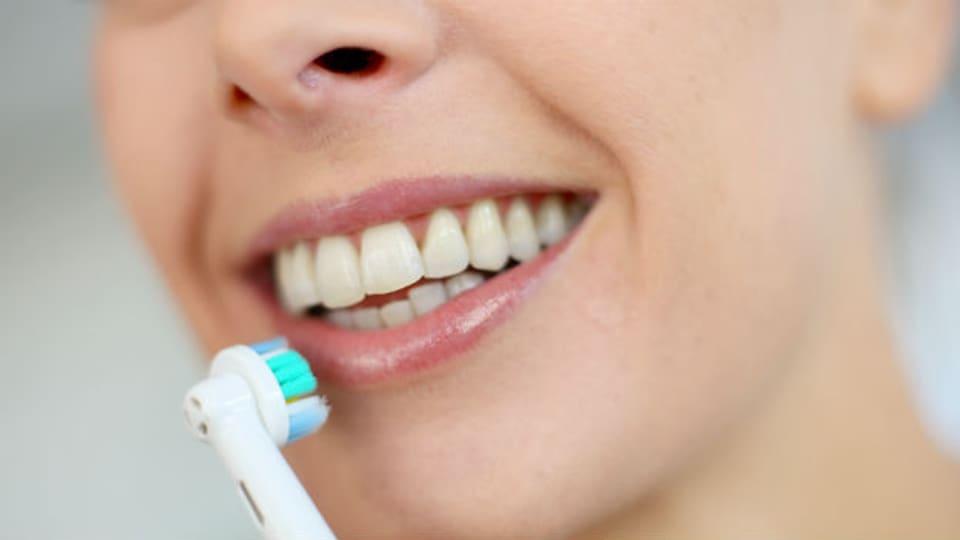 Schrubben Sie noch oder schwingen Sie schon? Die oszillierende Zahnbürste rotiert ihren runden Kopf ganz schnell hin und her.
