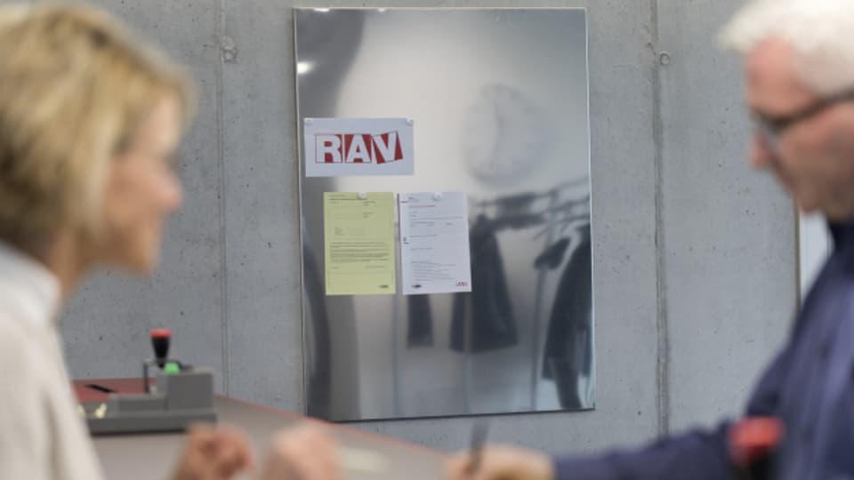 Ein Arbeitsloser auf dem RAV.