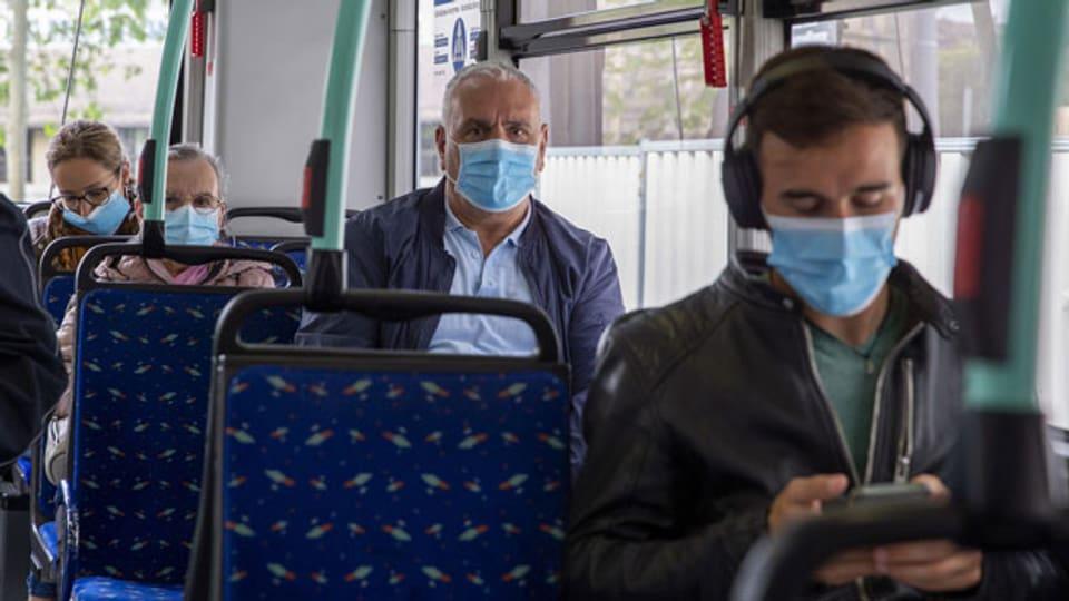 Ab 6. Juli für alle Pflicht: Maske tragen im ÖV.