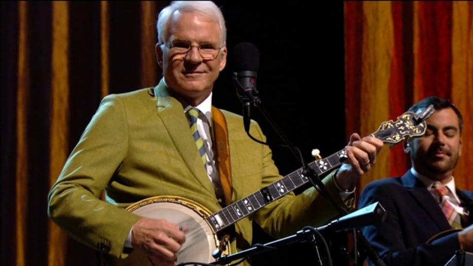 Steve Martin: Hat als begnadeter Banjospieler mehrere Grammys gewonnen.