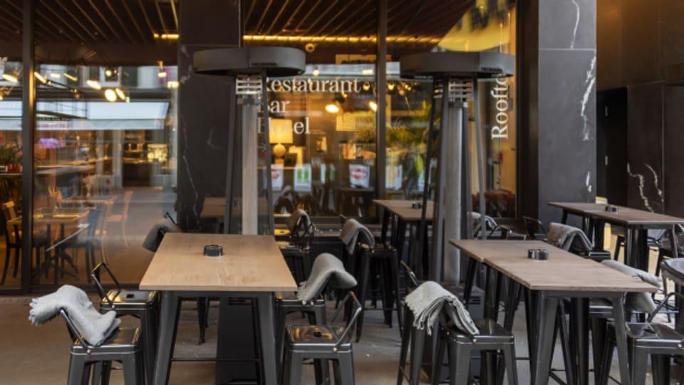 Ein geschlossenes Restaurant in Basel