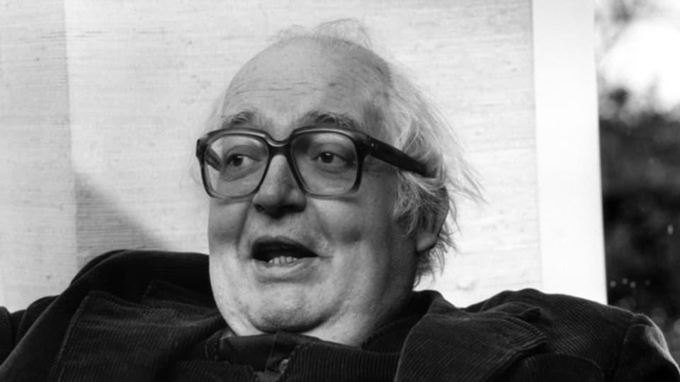 Friedrich Dürrenmatt 1980 in seinem Haus in Neuenburg. Er ist bis heute einer der ganz Grossen der Schweizer Literatur.