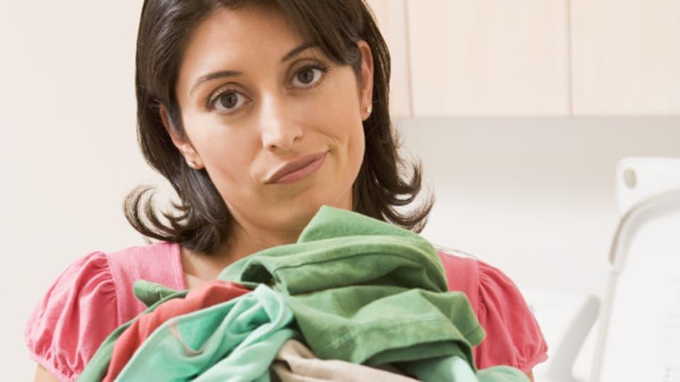 Ärgerlich: Papiertaschentuch in der Wäsche.