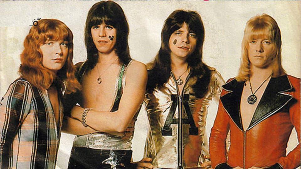 Kein Nummer-1-Hit in der Schweiz - The Sweet waren zwar mit «Teenage Rampage» 12 Wochen in den CH-Charts – davon aber nur drei auf Höchstposition Platz 2.