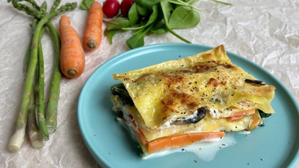 So geht Frühling - Lasagne mit Frühlingsgemüsen Ihrer Wahl.