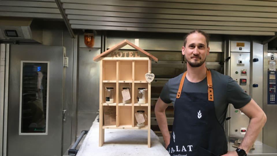 Bäcker Martin Mayer und sein Sauerteig-Hotel.
