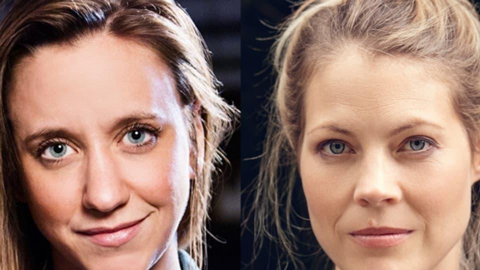 Live im Studio zu Gast: Die beiden Musikerinnen Anna Känzig (links) und Jaël