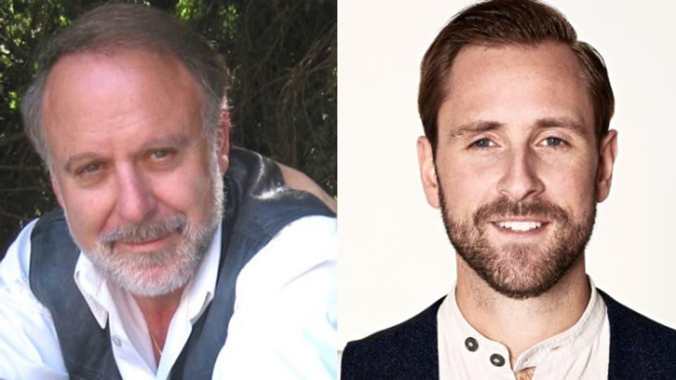 Live zu Gast: Singender Vater Peter Reber (links) und Jung-Vater Kunz