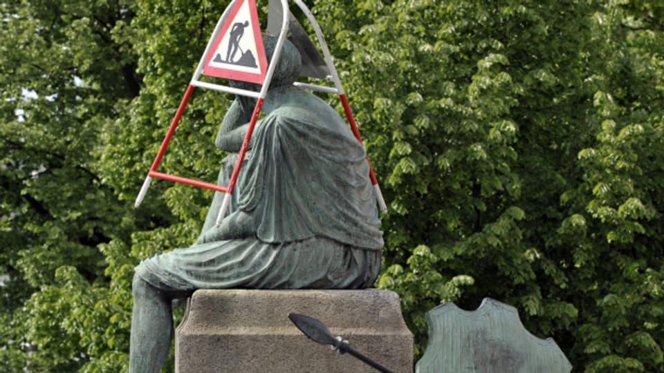 Helvetia am Rheinknie. Mal ist der Blick frei nach Europa, mal ist die Sicht getrübt.