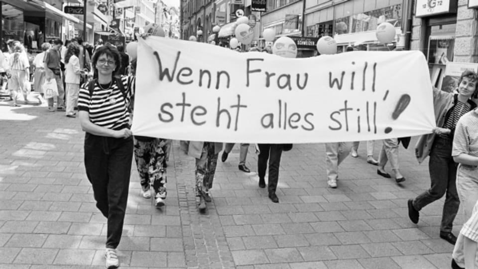 Der erste Frauenstreik von 1991 deblockierte Diskussionen um Frauenthemen.