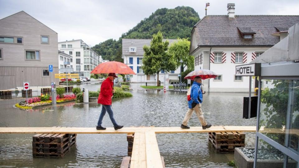 Der Dorfplatz von Stansstad im Kanton Nidwalden.