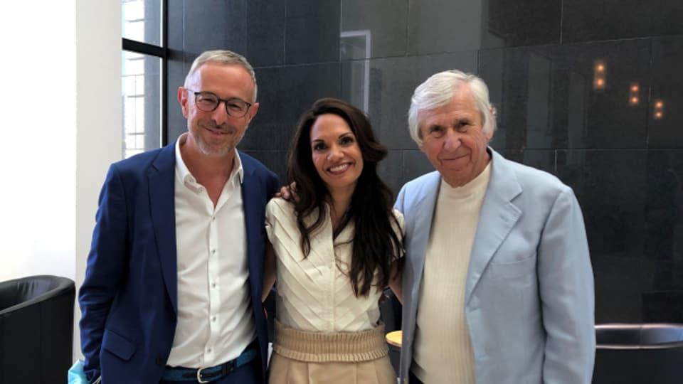 Anna Maier und Mario Cortesi (r) zu Gast bei Dani Fohrler