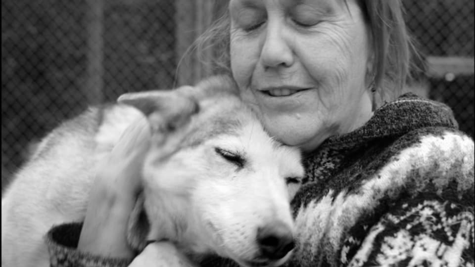 Lotti Meier führt ein Husky Camp in Lappland
