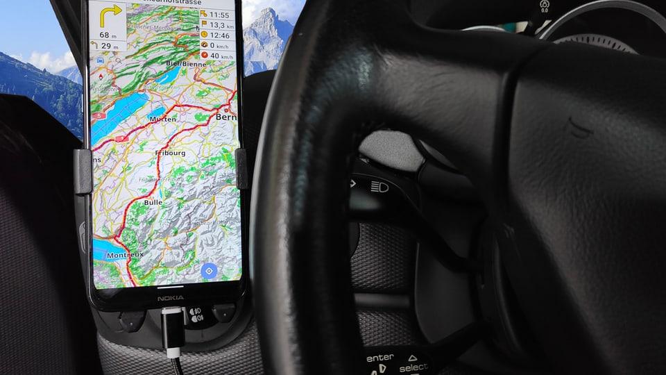 Ideal für den ausgedehnten Road-Trip: Navigation mit Open Street Map.