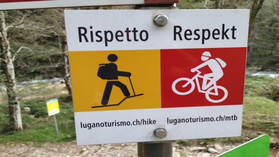 Gegenseitiger Respekt nötig - Wanderer und Biker