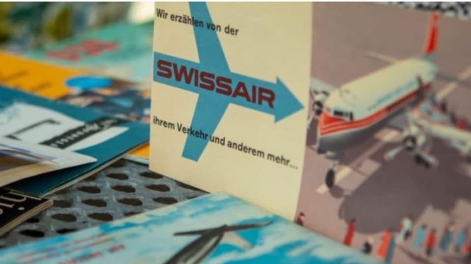 Sammlerstücke erinnern Charles Sagne und Robert Grob an die goldene Swissair-Zeit.