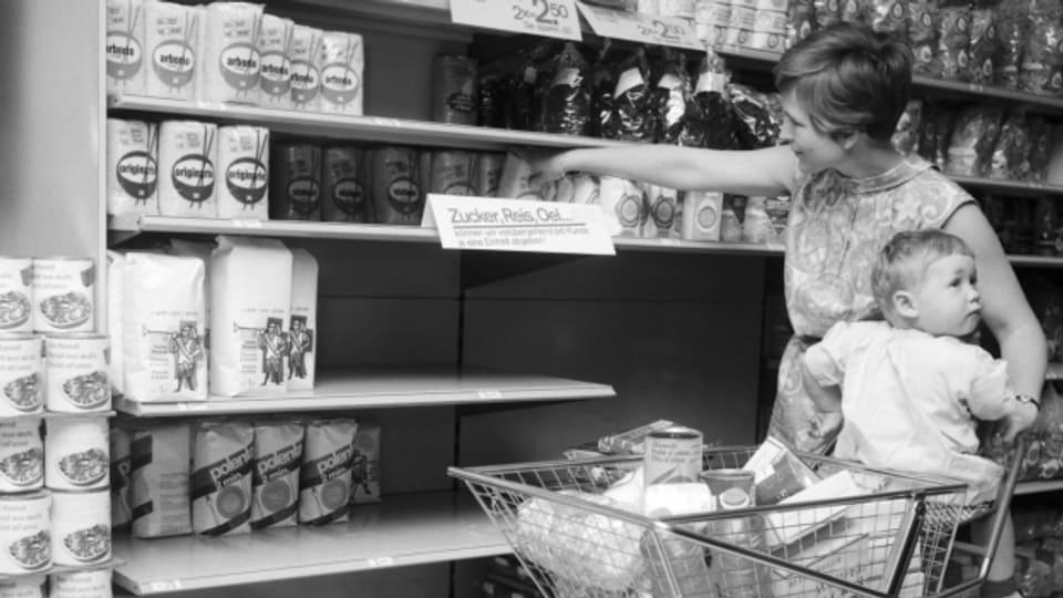 Die Kubakrise löste in der Schweiz 1962 Panik und Hamsterkäufe aus: Zucker, Öl und Reis waren immer schnell ausverkauft.