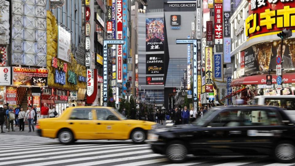 In der Metropole Tokio leben 14 Millionen Menschen.